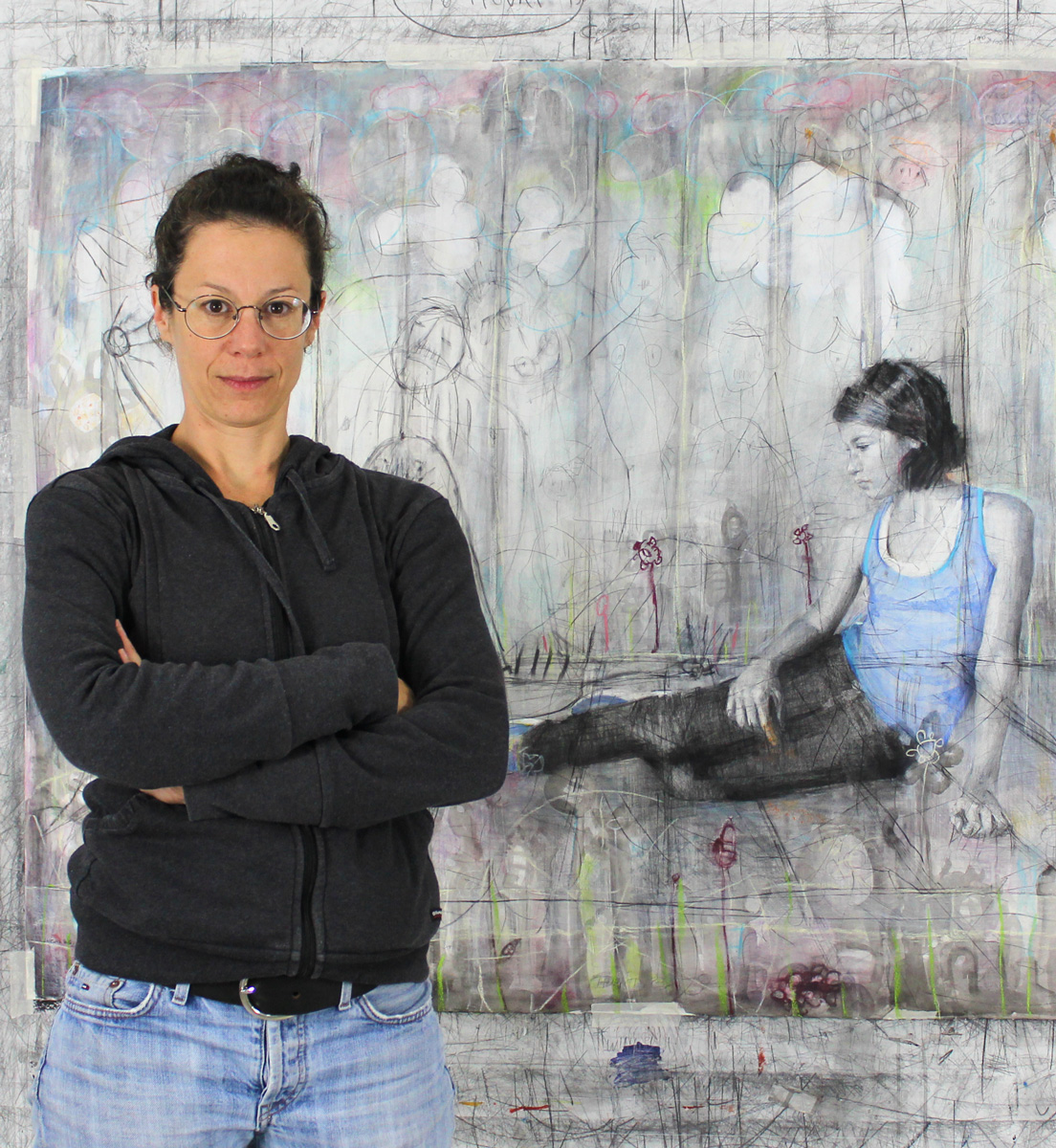 An image of the contemporary female artist Angelika Vaxevanidou